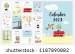 Travel Monthly Calendar 2019...