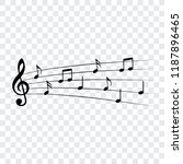 music notes  isolated  vector... | Shutterstock .eps vector #1187896465