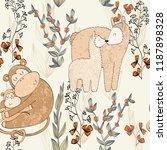 seamless pattern. vector... | Shutterstock .eps vector #1187898328