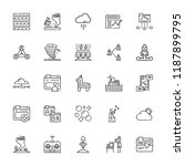 collection of 25 cloud outline... | Shutterstock .eps vector #1187899795