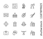 collection of 16 logotype... | Shutterstock .eps vector #1187899825