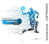 handball dot illustration on...   Shutterstock .eps vector #1187904442