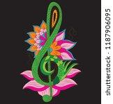 design decoration note music | Shutterstock .eps vector #1187906095