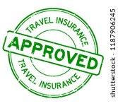 grunge green travel insurance...   Shutterstock .eps vector #1187906245