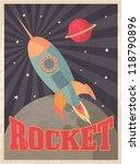vintage rocket vector... | Shutterstock .eps vector #118790896