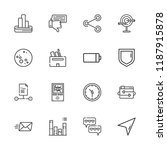 collection of 16 interface... | Shutterstock .eps vector #1187915878