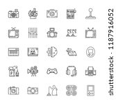 collection of 25 electronics... | Shutterstock .eps vector #1187916052
