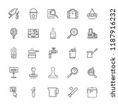 collection of 25 handle outline ... | Shutterstock .eps vector #1187916232