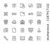 collection of 25 office outline ... | Shutterstock .eps vector #1187917132