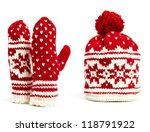 Winter Cap And Mittens Hand...