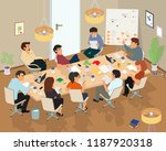 concept of the coworking center.... | Shutterstock .eps vector #1187920318