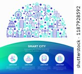 smart city concept in half... | Shutterstock .eps vector #1187928592