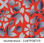 seamless flower with stripe... | Shutterstock .eps vector #1187928715