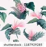 bright tropical seamless... | Shutterstock .eps vector #1187929285