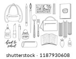 pack of cute back to school... | Shutterstock .eps vector #1187930608