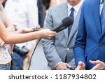 journalists making media... | Shutterstock . vector #1187934802