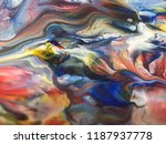 abstract art acrylic painting... | Shutterstock . vector #1187937778
