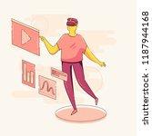 vector character technology... | Shutterstock .eps vector #1187944168