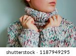 sweater woman cozy clothes... | Shutterstock . vector #1187949295