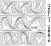 distorted wave monochrome... | Shutterstock .eps vector #1187950618