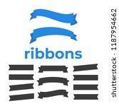 flat vector ribbons banners... | Shutterstock .eps vector #1187954662