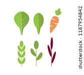 salad ingredients with carrot.... | Shutterstock .eps vector #1187954842
