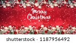 christmas and new year holidays ... | Shutterstock . vector #1187956492