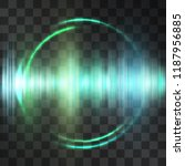teal oscillation light effect ... | Shutterstock .eps vector #1187956885