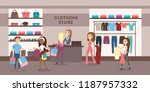 women at clothing store buying... | Shutterstock . vector #1187957332