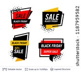 black friday badges set.... | Shutterstock .eps vector #1187959582