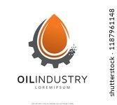 oil industry logo template... | Shutterstock .eps vector #1187961148