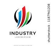 abstract industry logo template ...   Shutterstock .eps vector #1187961208