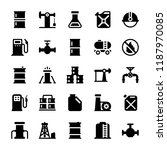 oil industry glyph icons   | Shutterstock .eps vector #1187970085