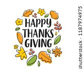 thanksgiving day. logo  text... | Shutterstock .eps vector #1187974975