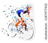 road cycling  polygonal cyclist ... | Shutterstock .eps vector #1187977522