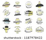 mayonnaise typography. logo... | Shutterstock .eps vector #1187978422