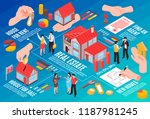 real estate agency isometric... | Shutterstock .eps vector #1187981245