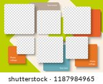 template for photo collage in... | Shutterstock .eps vector #1187984965