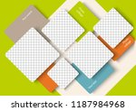 template for photo collage in... | Shutterstock .eps vector #1187984968