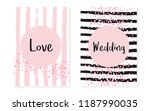 bridal shower set with dots and ... | Shutterstock .eps vector #1187990035