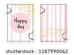 bridal shower card with dots... | Shutterstock .eps vector #1187990062