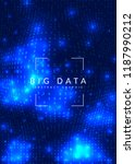 deep learning background.... | Shutterstock .eps vector #1187990212
