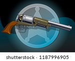 graphic detailed old revolver... | Shutterstock .eps vector #1187996905