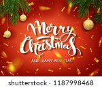 christmas design vector... | Shutterstock .eps vector #1187998468