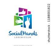 hands logo template design... | Shutterstock .eps vector #1188001822