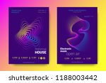 electronic music party poster... | Shutterstock .eps vector #1188003442