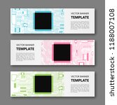 banner microcircuit. modern... | Shutterstock .eps vector #1188007108