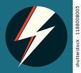 ziggy stardust white flash.... | Shutterstock .eps vector #1188008005