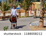 mother strolling with sleeping... | Shutterstock . vector #1188008212