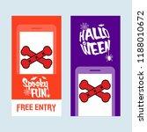 happy halloween invitation... | Shutterstock .eps vector #1188010672